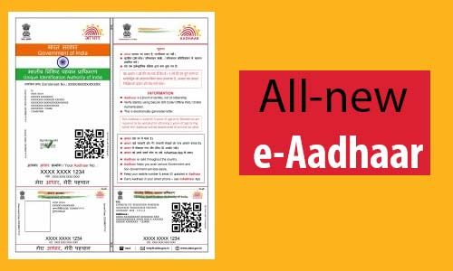 E Aadhar Card Download, Update, Status