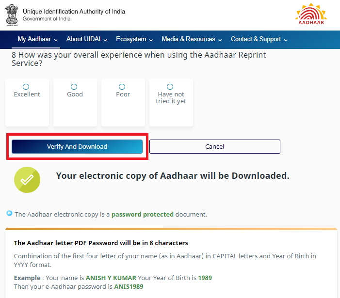 UIDAI Download Aadhar, Update, Status Check